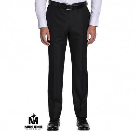 Men Regular Trouser in Black